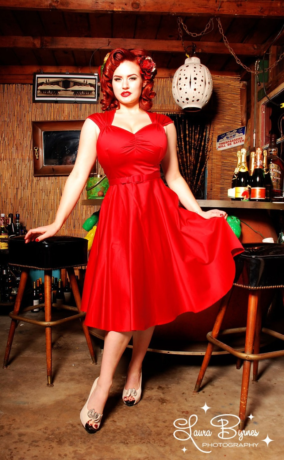 Heidi Dresses 1950s Pinup Girl Red Party Dress Rockabilly