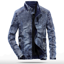 Vintage Denim Jackets Men Slim Fit Solid Color Casual Mens Jeans Coat 2019 Fashion Clothes for Black Blue WN37