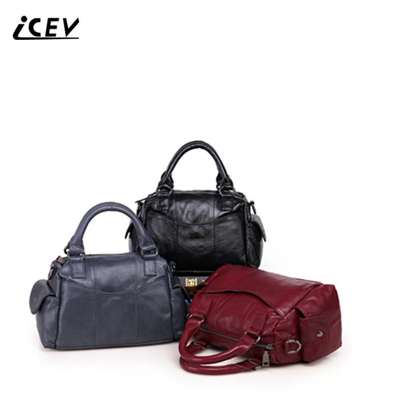 ICEV New Fashion 100% Genuine Leather Handbags Women Leather Handbags Bags Handbags Women Famous Brands Cow Leather Handbags Sac icev new fashion europe style genuine leather handbags alligator women leather handbags bags handbags women famous brands bolsa