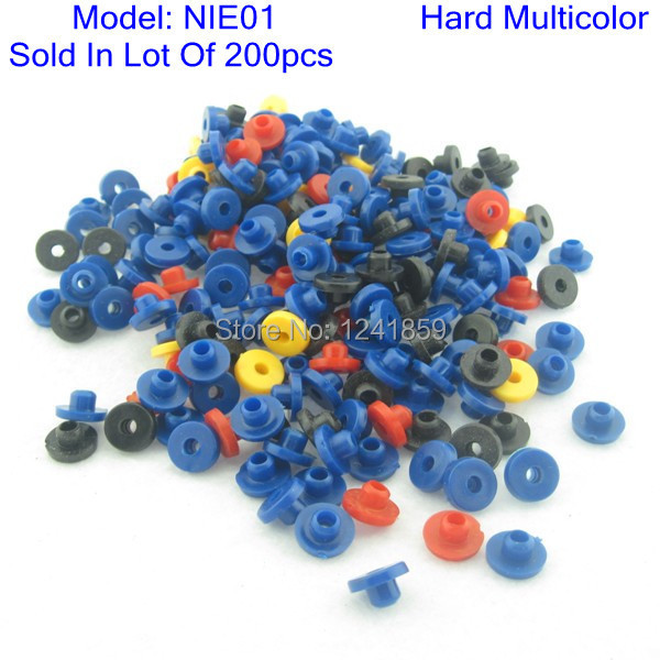 200pcs Hard T Type Tattoo Nipple Mix Colors For Needles Supply NIE01-200#