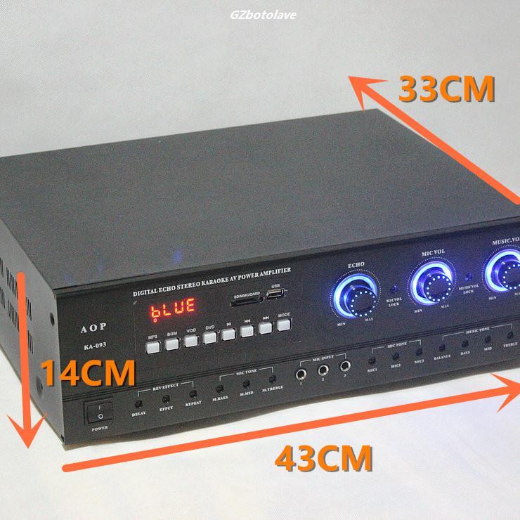 High power professional Bluetooth digital HIFI audio large power KTV power amplifier home Cara OK power amplifier 400W*4 line5 black and gold a965 100w bluetooth wireless digital power amplifier hifi power amplifier power