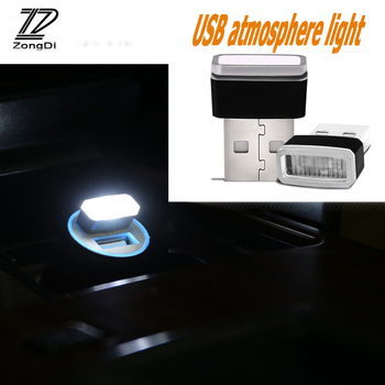 ZD Car Styling For Mercedes W203 W211 W204 W210 Benz BMW F10 E34 E30 F20 X5 E70 Car USB Charger Atmosphere LED Light Accessories image