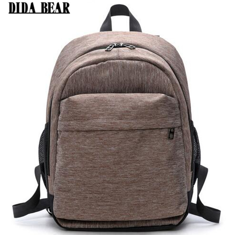 DIDA BEAR Women Canvas Backpacks Ladies Shoulder Bag Rucksack School Bags For Girls Laptop Travel Bolsas Mochilas Sac A Dos Gray dida bear women leather backpacks bolsas mochila feminina girls large schoolbags travel bag sac a dos black pink solid patchwork