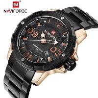 NAVIFORCE Top Mens Luxury Brand Military Watches Men Full Steel Waterproof Quartz Watch Sports Wristwatches Relogio