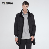 VIISHOW Winter Jacket Men Coats Jackets Fashion Jacket Long Men Parka Winter Warm Casual Black Jacket