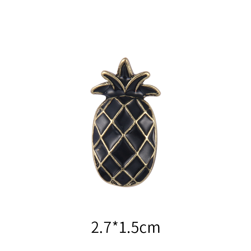 baiduqiandu brand new arrival various fruit and plant black pineapple red strawberry assorted enamel pins brooch for bags shoes in Brooches from Jewelry Accessories