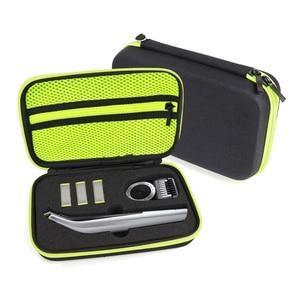 Image 2 - Draagbare Case voor Philips OneBlade Pro Trimmer Scheerapparaat Accessoires EVA Reistas Opslag Pack Box Cover Zipper Pouch met Voering