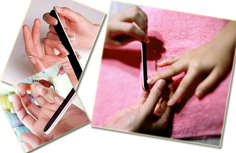 Manicure Cuidados Nail Art Lustrando Lixar Arquivos Polimento Ferramentas