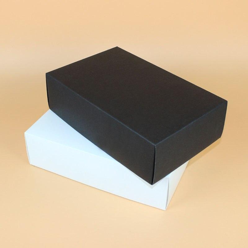 28 18 8cm 50pcs large black white paper gift box big gift. Black Bedroom Furniture Sets. Home Design Ideas