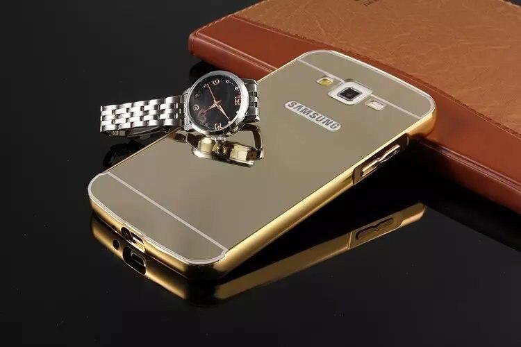 newest 1e907 7f717 US $5.6  for Samsung Galaxy j2 j200 New Luxury 2 in 1 Elegant Metal  Aluminum Frame Case + Acrylic Mirror Ultra Slim Back Cover on  Aliexpress.com   ...