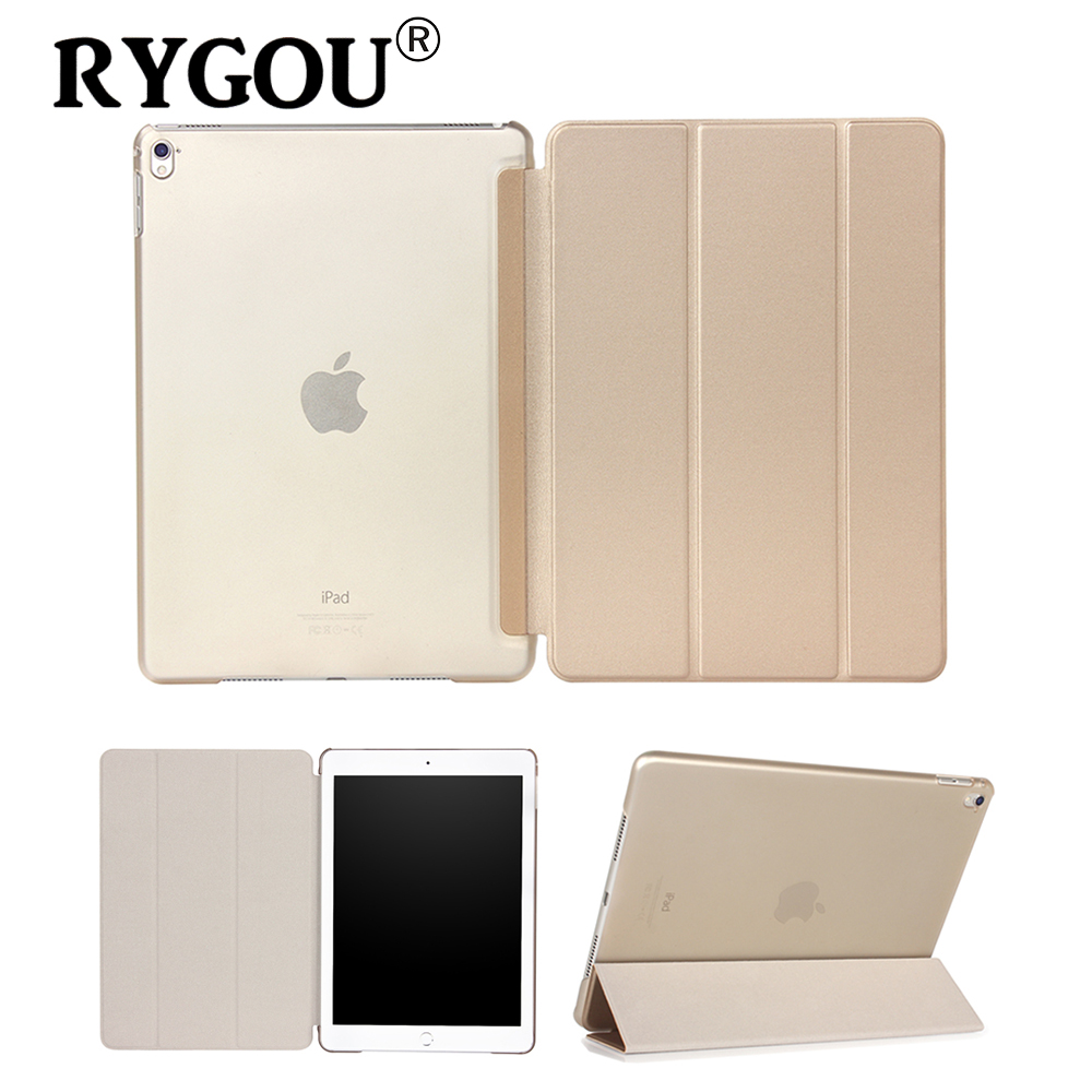 цены RYGOU For iPad Pro 9.7 Case 2016 Release,PU Leather Smart Cover Magnet Auto Wake up Sleep Flip Case For Apple iPad Pro 12.9 2015