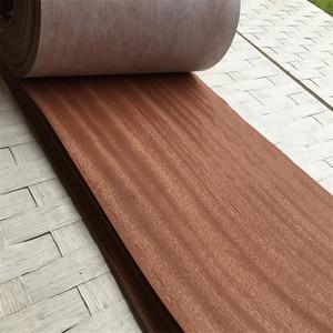 Image 3 - Chapa de madera auténtica Natural en lonchas Sapele, 27 60cm, 2,5 M, chapas para muebles, instrumento Musical, equipo de Audio Q/C