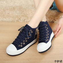 New High Women Sneakers Denim Casual Shoes Female Summer Canvas