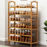 Shoe Rack Multi-layer Shoes Shelf Simple Solid Wood Shoe Cabinet Household Dormitory Economic Dustproof Shoe Shelf