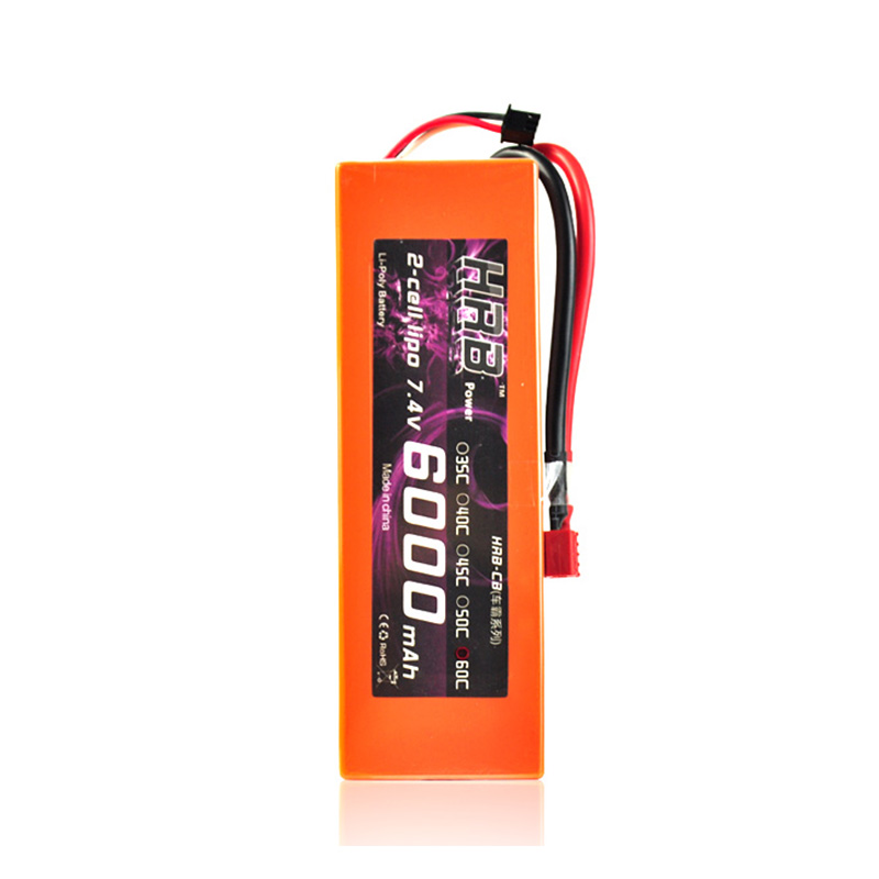 HRB 7.4v 6000mah 60C RC lipo 2s Battery Max 120C Hard Case Orange for RC 1/10 Traxxs Car Helipoter Boat Toy Lipolymer Battery 1s 2s 3s 4s 5s 6s 7s 8s lipo battery balance connector for rc model battery esc
