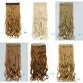 Новинка 70 см длинные 5 зажим(ов) на наращивание волос объемной волнистые вьющиеся природных накладные укладки волос синтетический зажим-в наращивание волос