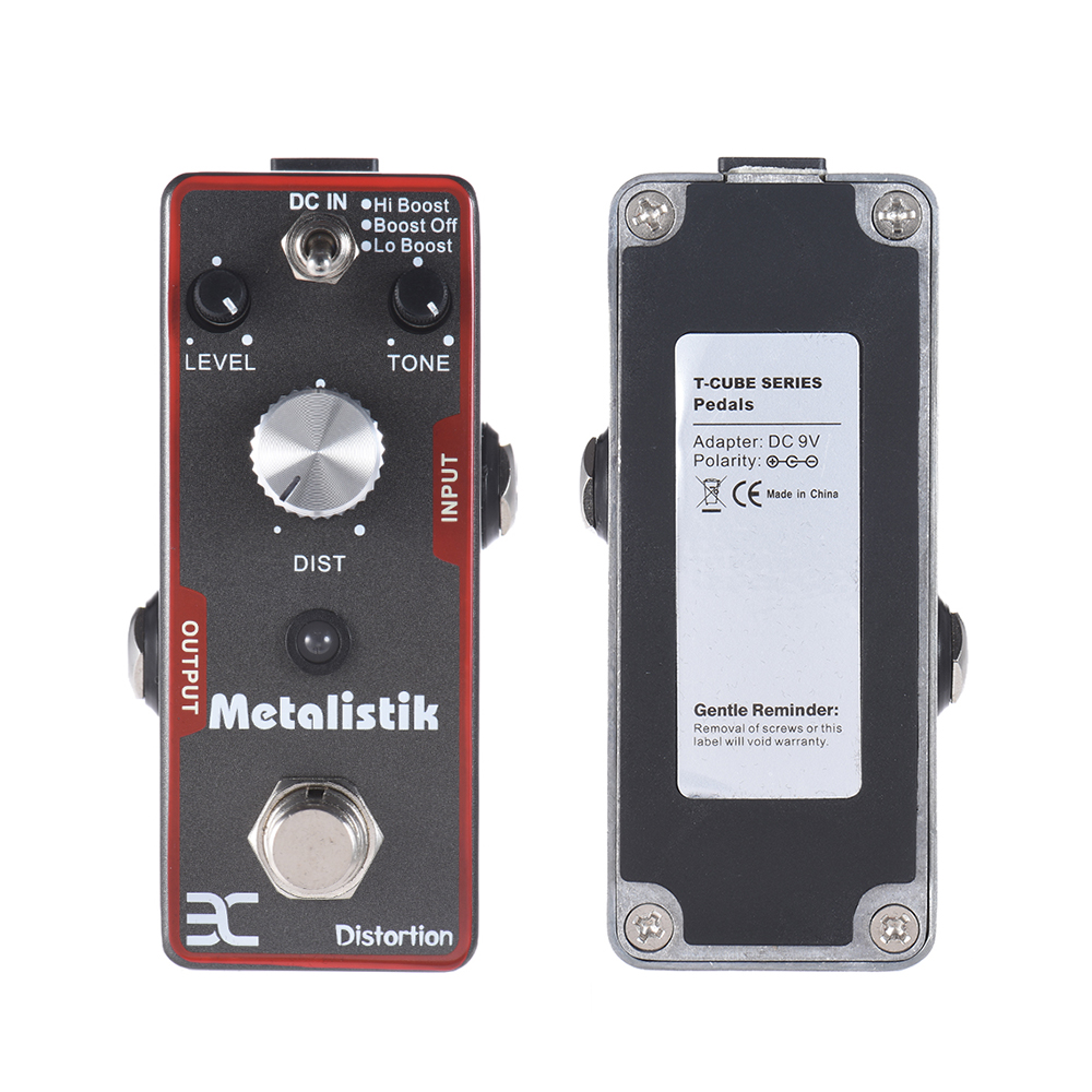 ENO High Quality TC-11 Metalistik Distortion Guitar Effect Pedal True Bypass design aroma adr 3 dumbler amp simulator guitar effect pedal mini single pedals with true bypass aluminium alloy guitar accessories