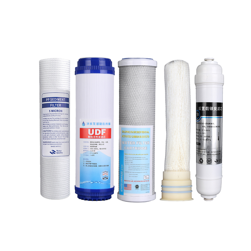 Household water purifier filter set 10 inch universal full set of pure water machine PP cotton filter tap water purifier accesso brand new 1pcs pure water machine self priming pump water pp cotton filter 2 points home appliance parts