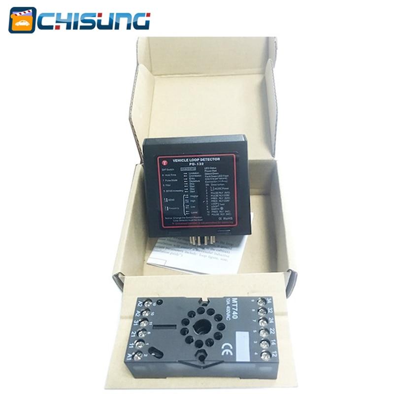 110v 220v 24v 12V Dual Channel Single Inductive Car Vehicle Loop Detector