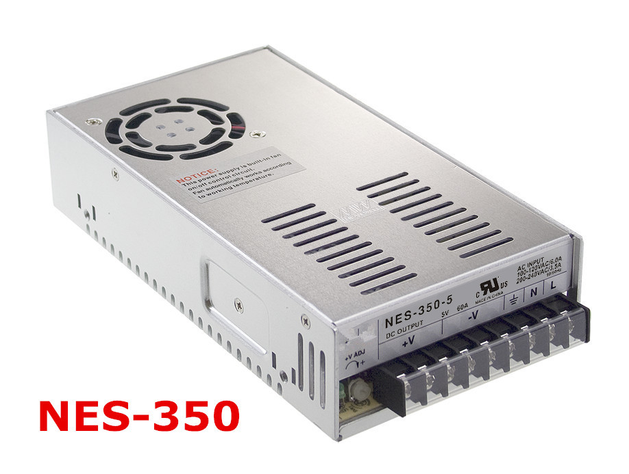 ФОТО Free shipping 1pc  NES-350-5 300w 5v  60A Single  Output Switching Power Supply