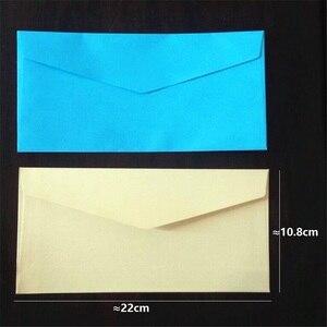 Image 3 - 50 pçs/lote 220*110mm novo bonito do vintage gloss candy color série diy multifuncional conjunto envelope cera atacado