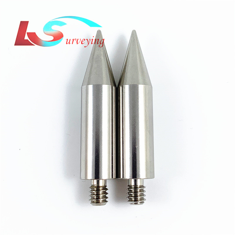 """2pcs high quality Replacement 50mm length mini Pole Point tip for mini prism    1/4"""" Thread  Stainless Steel Free shippingInstrument Parts & Accessories   -"""
