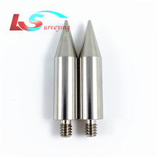 """2pcs high quality Replacement 50mm length mini Pole Point tip for mini prism    1/4"""" Thread  Stainless Steel Free shipping"""