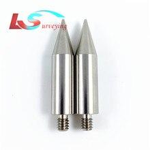 Mini pointe de poteau en acier inoxydable de 50mm de longueur pour mini prisme filetage de 1/4 pouces, 2 pièces de rechange de haute qualité