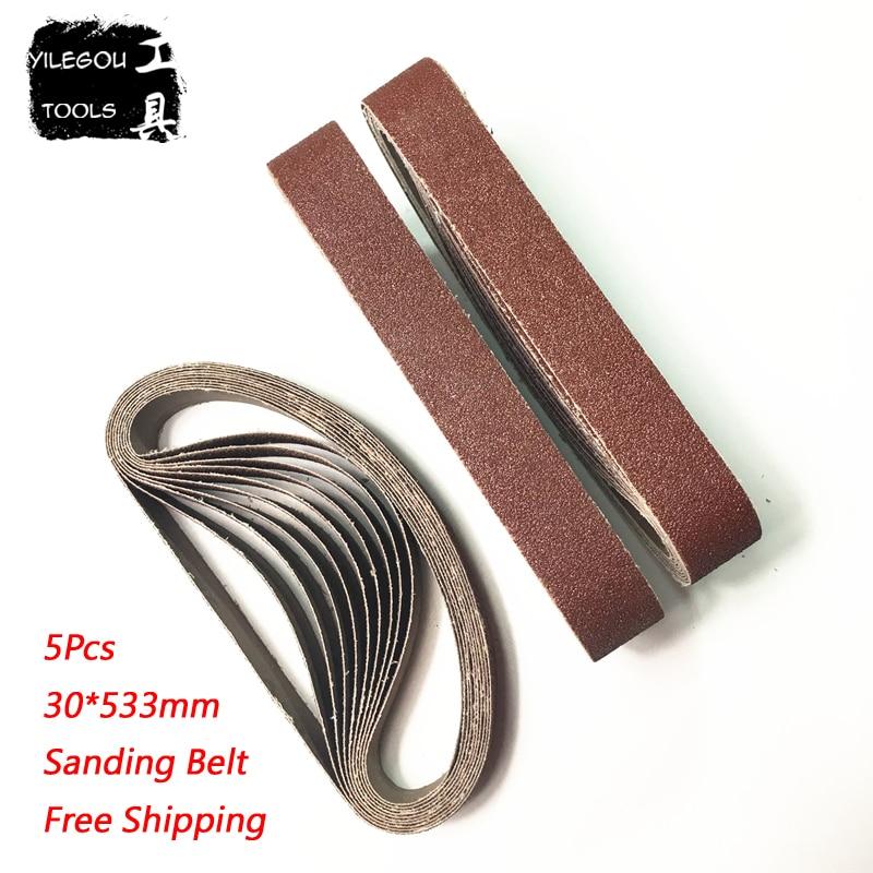 5 Pieces Sanding Belt 30*533mm Sanding Screen 1.2