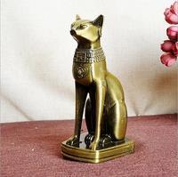 Vintage bronze alloy ai cập mèo bức tượng ornament điêu khắc đồ lưu niệm trang trí nội thất thủ công kim loại sự giàu có may mắn chí fortune cát tượng