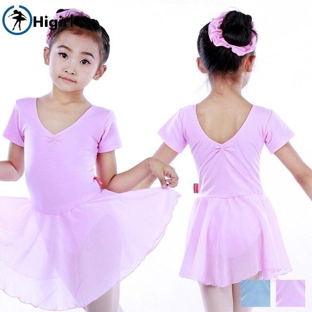 b705961bf Kids Pale Blue Short Sleeve Children Traing Ballet Dance Clothes GYM ...