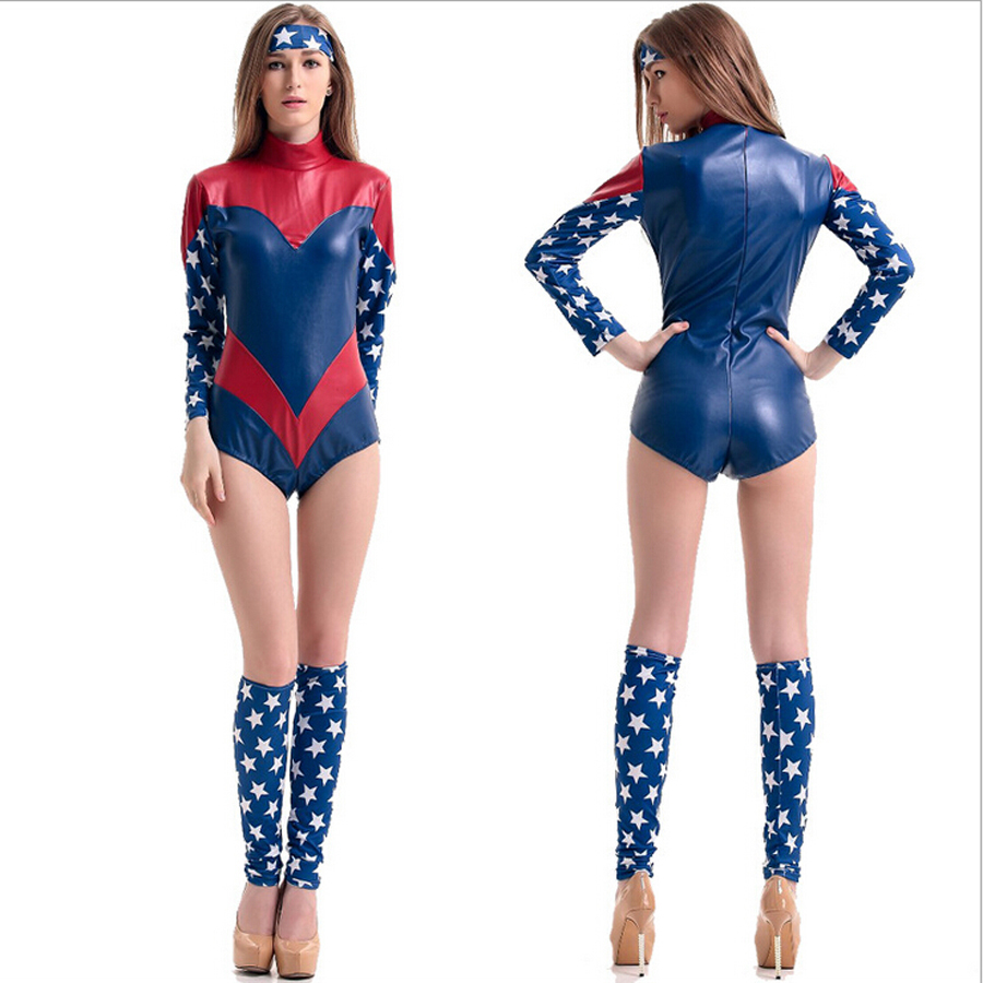Halloween Costumes For Women Captain America Superman -5959