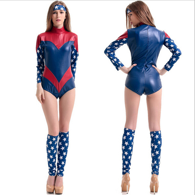 halloween costumes for women captain america superman wonder woman soldier cosplay party sexy performance carnival costume - Soldier Girl Halloween Costume
