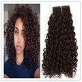 Brillo completo 7a Cinta en Extensiones de Cabello Humano para African el Color del pelo #4 Medio Castaño Rizado Brasileño Pelo de La Cinta Adhesiva extensiones