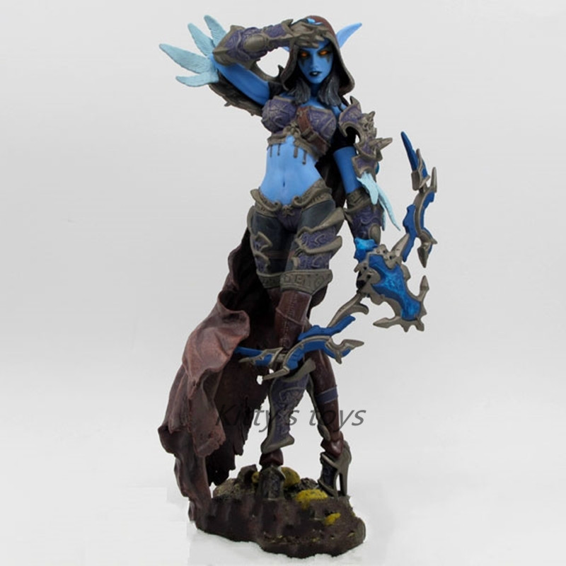 Game Figures Forsaken Queen: Sylvanas Windrunner Action Figure Collectible Toy Free Shipping KA0478 new game ashe action figure collectible model toy pvc 23cm game figures doll brinquedos juguetes hot sale free shipping