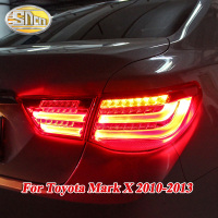 Rear Fog Lamp + Brake Light + Reverse + Dynamic Turn Signal Car LED Tail Light Taillight For Toyota Mark X Reiz 2010 2013