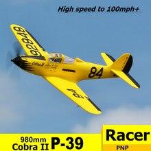 FMS RC avión 980mm P-39 P39 Cobra II de carreras de alta velocidad 4S 6CH resistente EPO PNP Radio Control modelo de avión
