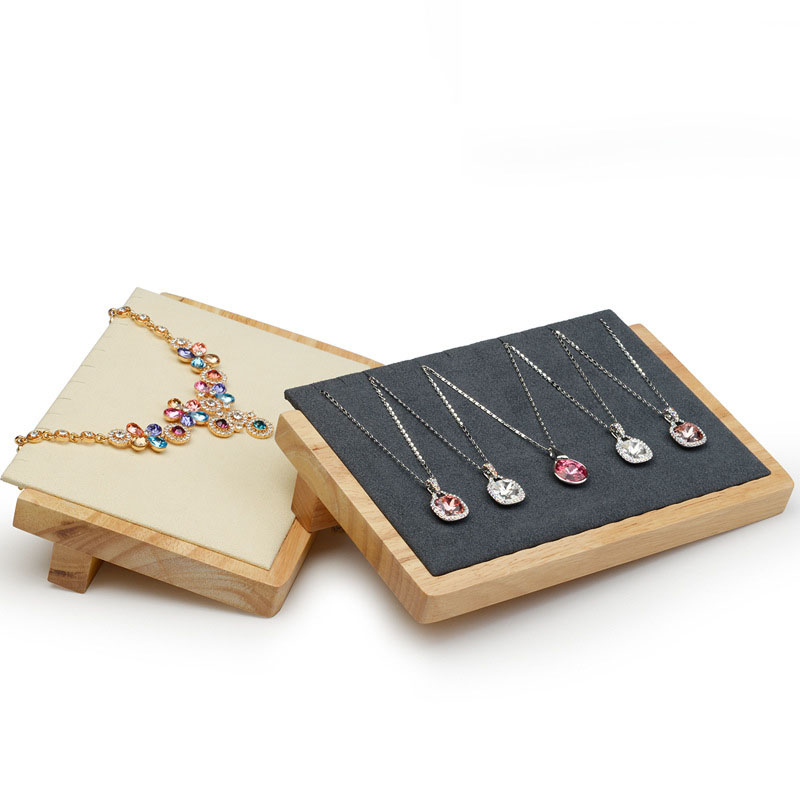 Black / Beige Wood Necklaces Earring Jewelry Display Jewelry Organizer Stand Earring Jewelry Display Rack Stand Holder H4013 статуэтка jewelry stand 2