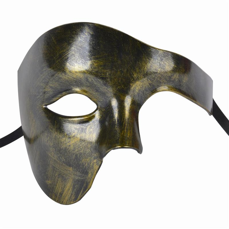 FunPa Venetion Mens Party Mask Half Face Phantom Of the Opera Mask Handsome Halloween Mardi Gras Mask Halloween Masquerade Mask-in Party Masks from Home & Garden