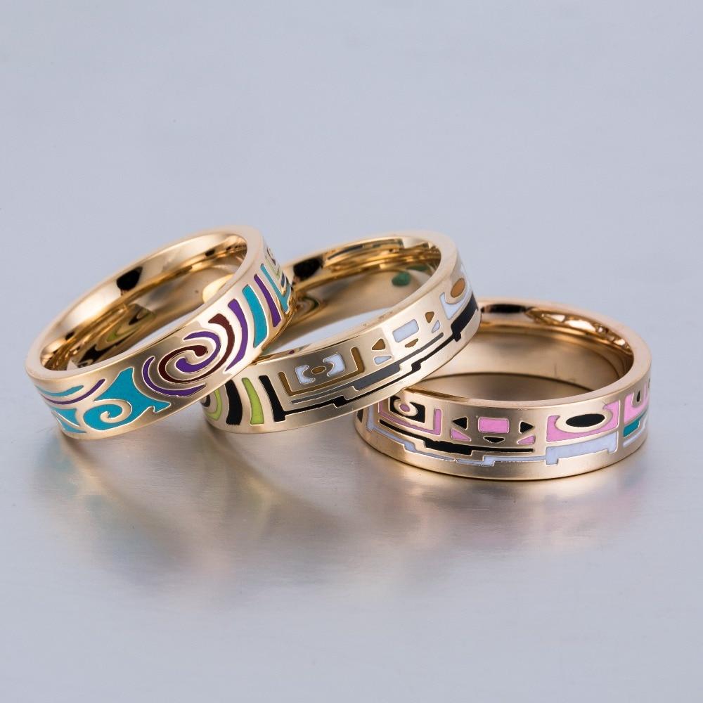 2017 Hot Enamel Ring For Women Gift Wholesale Vintage