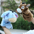 Kids Animal Hand Finger Puppet Plush Donkey Doll Baby Development Teaching Toy