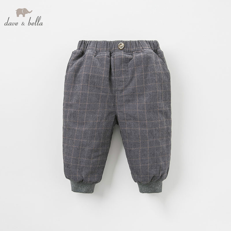 DB9221 dave bella winter baby boys fashion padded trousers kids plaid pants children boutique clothes db5612 dave bella winter baby boys full length kids fashion plaid pants children trousers