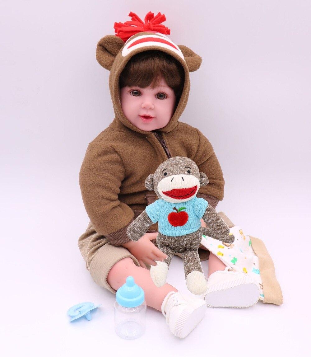 DollMai dolls reborn 20 50cm new silicone reborn baby dolls toys for girls child birthday gift bebe real reborn bonecas