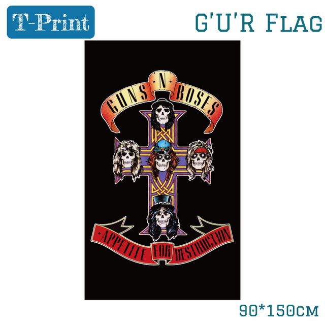 US $4 65 5% OFF Old School Guns And Roses Band Dark Souls Hanging Flags  Posters For Bar Home Bedroom Wall Decor 150*90cm 3*5ft-in Flags, Banners &