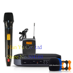 Professional wireless microphone High-end 2-channel microphone Lapel 2 Headset Automatic infrared automatic search frequency G-3