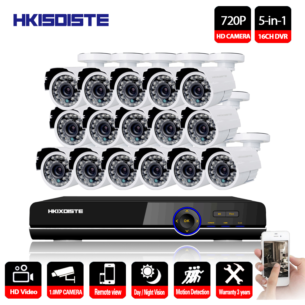 16CH DVR 1080 p HDMI CCTV System Video Recorder 16 stücke 2000TVL Home Security Wasserdichte Nachtsicht Kamera Überwachung Kits