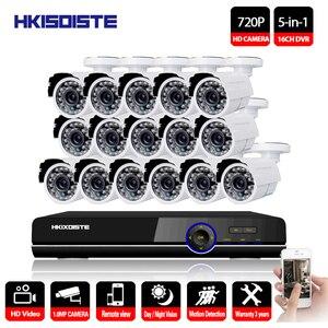 16CH DVR 1080P HDMI CCTV система видео рекордер 16 шт. 2000TVL Домашняя безопасность Водонепроницаемая камера ночного видения комплекты видеонаблюдения
