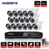 16CH DVR 1080 P HDMI system CCTV rejestrator wideo 16 sztuk 2000TVL bezpieczeństwa w domu wodoodporna kamera noktowizyjna nadzoru zestawy