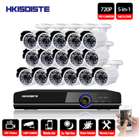 16CH DVR 1080P HDMI CCTV System Video Recorder 16PCS 2000TVL Home Security Waterproof Night Vision Camera Surveillance Kits