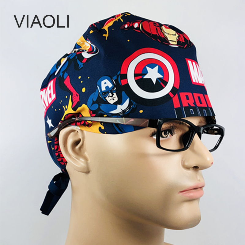 Viaoli New Medical Surgical Scrub Caps Surgical Surgeon's Surgery Hat Pet Doctor Cap/hats Dentist Cap/hats